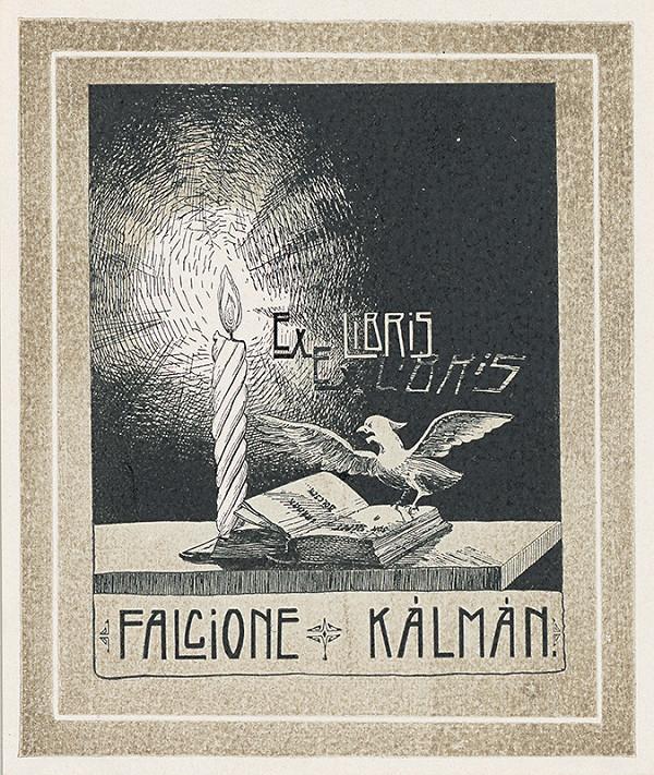 Stredoeurópsky grafik z 1. polovice 20. storočia - Ex libris Falcione Kálmán