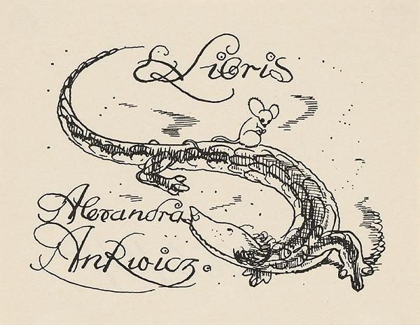 Stredoeurópsky grafik z 1. polovice 20. storočia – Ex libris Alexandra An Rwicz