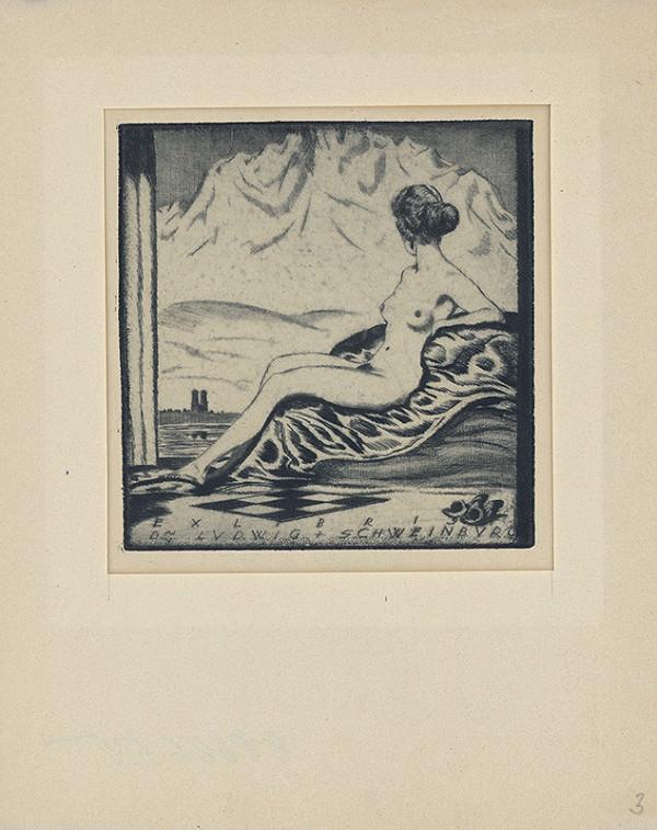 Stredoeurópsky grafik z 1. polovice 20. storočia - Ex libris Dr. Ludwig Schweinburg