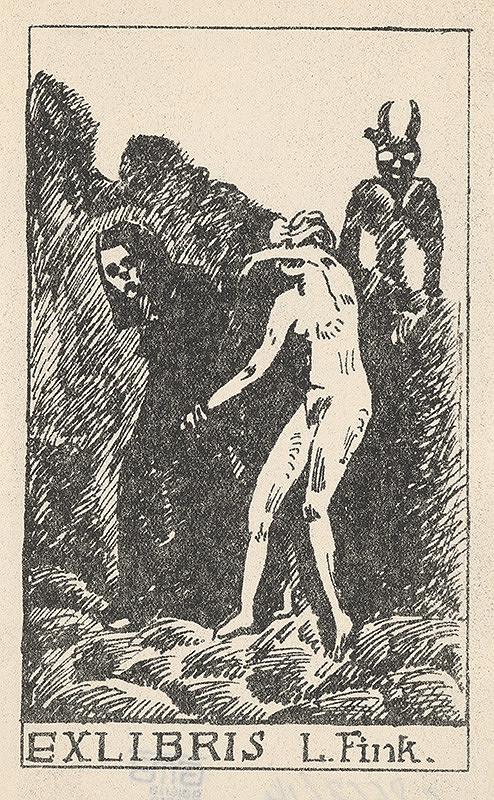 Stredoeurópsky grafik z 20. storočia - Ex libris L.Fink.