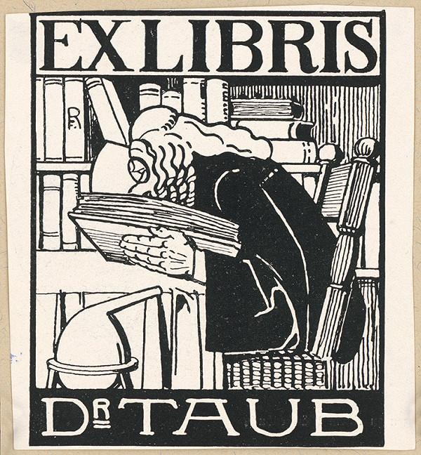 Stredoeurópsky grafik z 1. polovice 20. storočia - Ex libris Dr. Taub