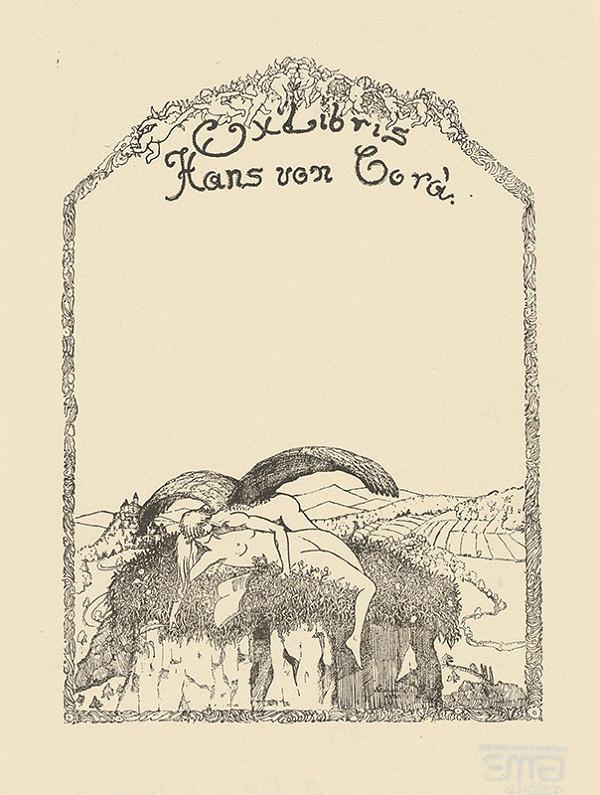 Stredoeurópsky grafik z 20. storočia - Ex libris Hans von Corá