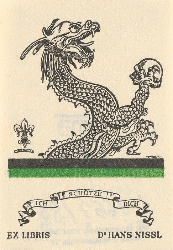 Stredoeurópsky grafik z 20. storočia - Ex libris  Dr. Hans Nissl