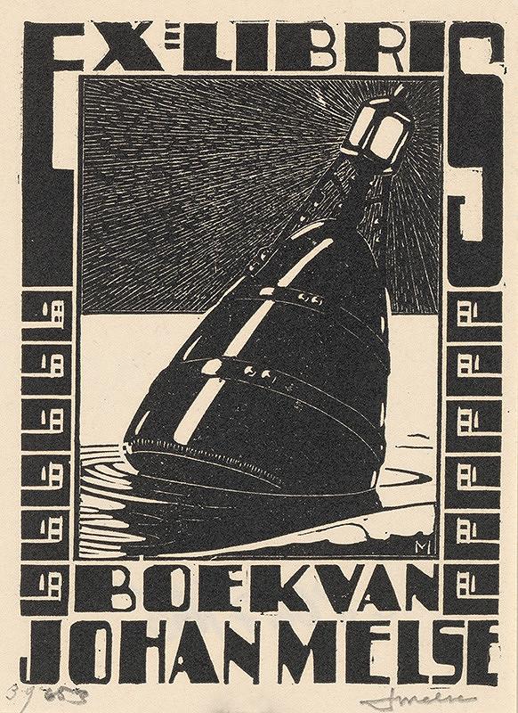 Stredoeurópsky grafik z 20. storočia - Ex libris Johan Melse