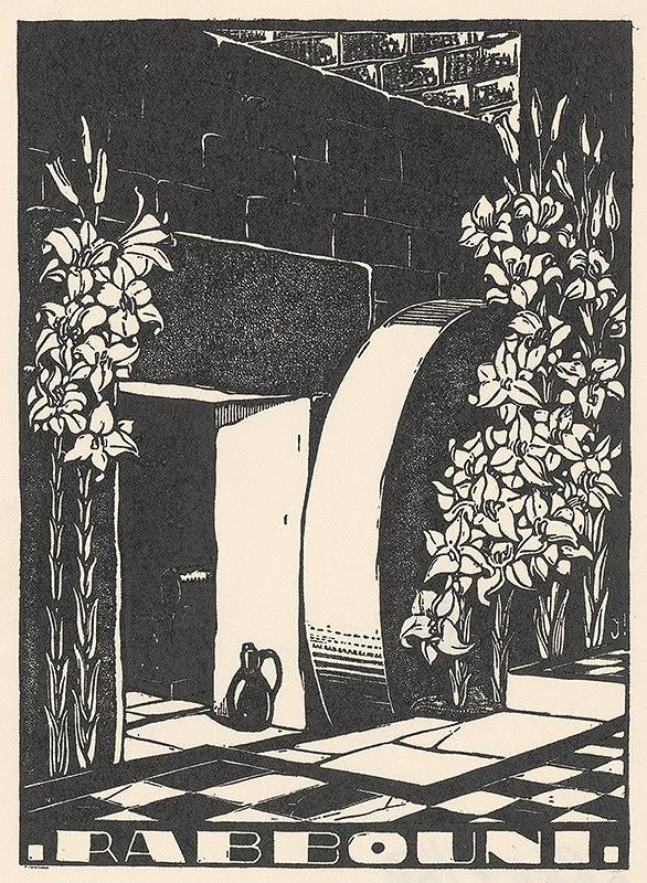 Stredoeurópsky grafik z 20. storočia - Ex libris Rabbouni