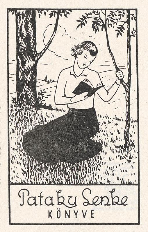 Stredoeurópsky grafik z 20. storočia - Ex libris Pataky Lenke