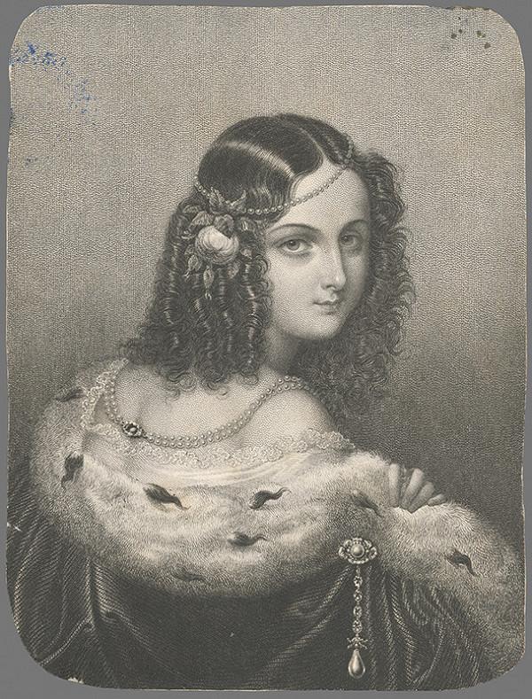 Stredoeurópsky grafik z 2. polovice 19. storočia - Podobizeň mladej dámy