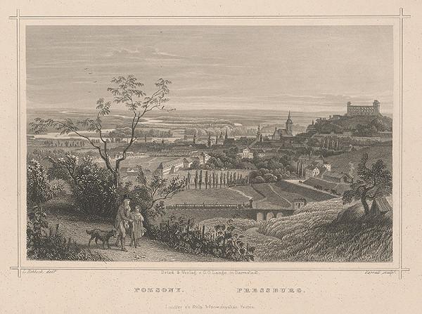 J. Carl Varrall, Ludwig Rohbock – Pohľad na Bratislavu zo severu