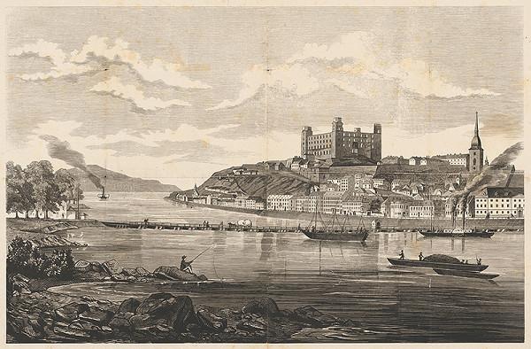 Stredoeurópsky grafik z 19. storočia – Bratislava v 19. storočí - pohľad z juhu