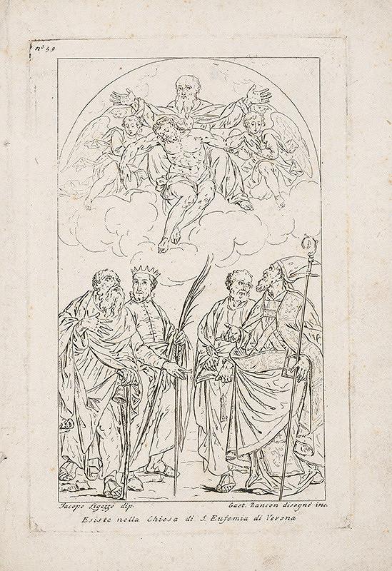 Gaetano Zancon, Jacopo Ligozzi - Adorácia sv. Trojice