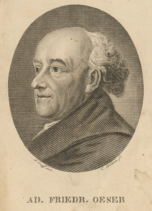 Johann Christian Böhme, Anton Graff – Portrét Adama Friedricha Oesera