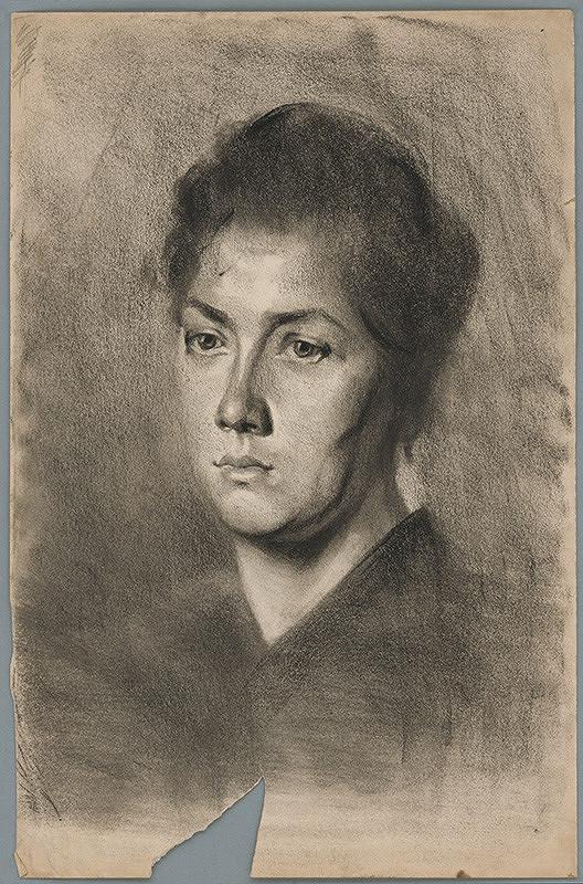 Ľudovít Pitthordt - Portrét mladej ženy