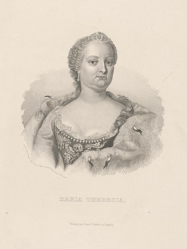 Stredoeurópsky grafik z 19. storočia – Portrét Márie Terézie