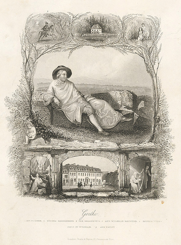 Stredoeurópsky grafik z 19. storočia - Goethe
