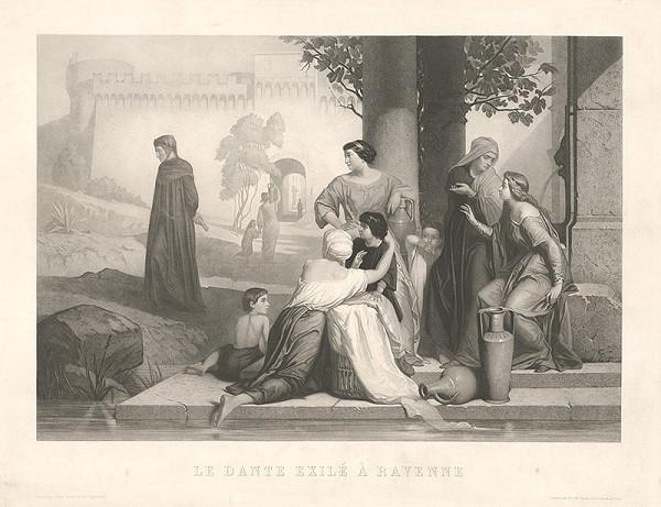 Francúzsky grafik z 19. storočia – Dante v exile v Ravenne