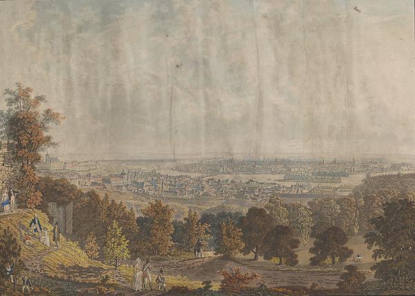 Stredoeurópsky grafik z 19. storočia - Pohľad na Prahu