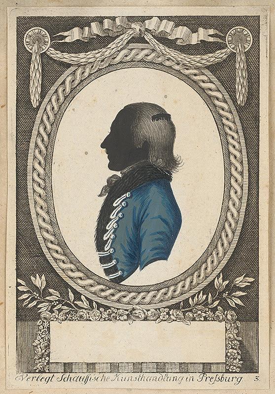 Stredoeurópsky grafik z 18. storočia – Silueta neznámeho muža