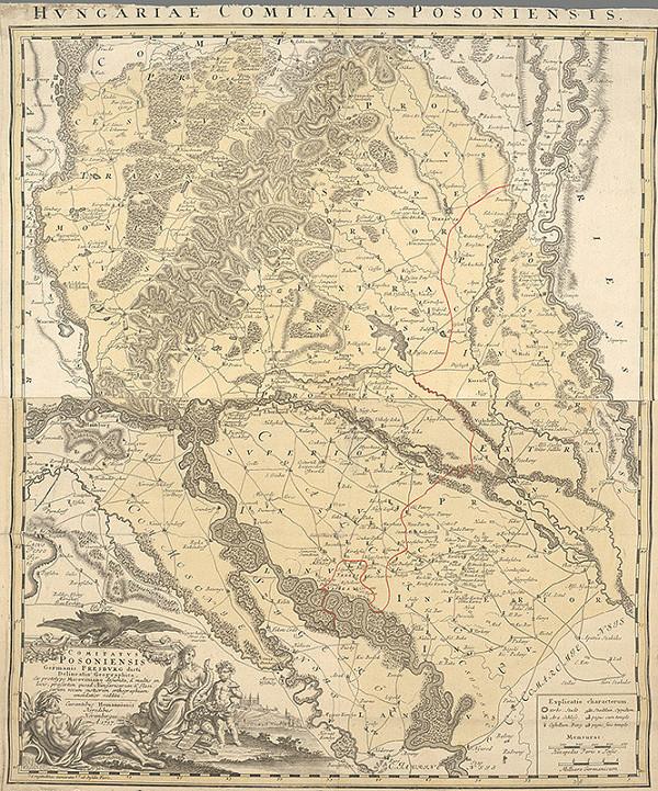Samuel Mikovíny - Mapa bratislavskej župy