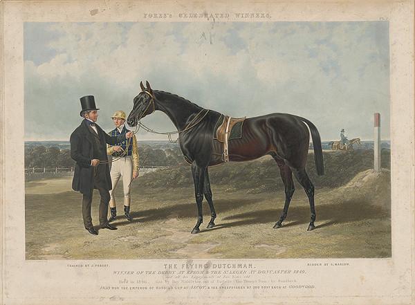 Joseph Kriehuber - Jazdec na koni Lion.