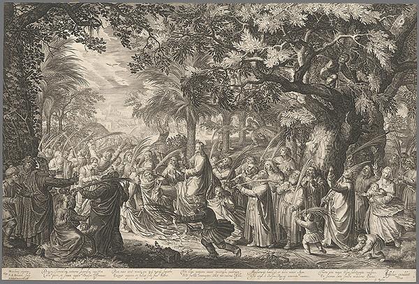 Schelte Bolswert, David Vinckboons - Kristov príchod do Jeruzalema