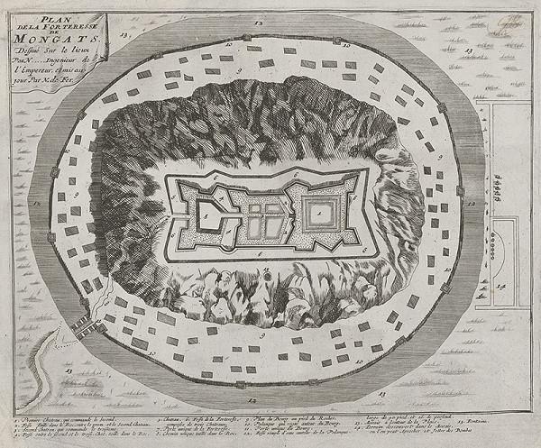 Nicolas de Fer - Plán pevnosti Mongats