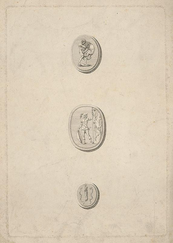 Stredoeurópsky grafik z 19. storočia - Tri návrhy na gemmy