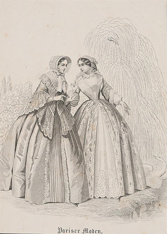 Francúzsky grafik z 19. storočia - Parížska móda