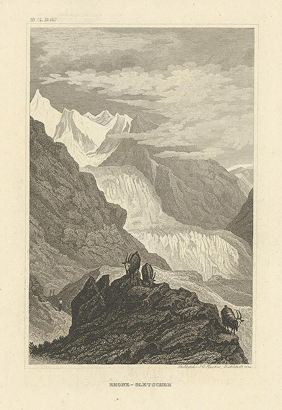 Johann Georg Martini – Ľadovec v Rhone