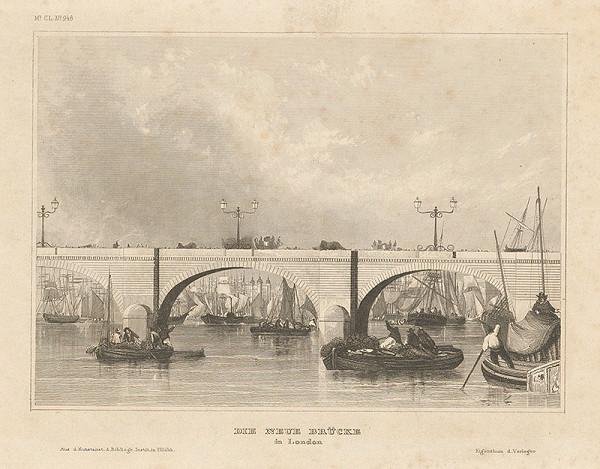 Nemecký grafik z 19. storočia – Nový most v Londýne