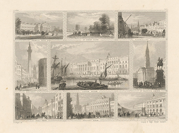 Albert Henry Payne - Veduty anglického mesta