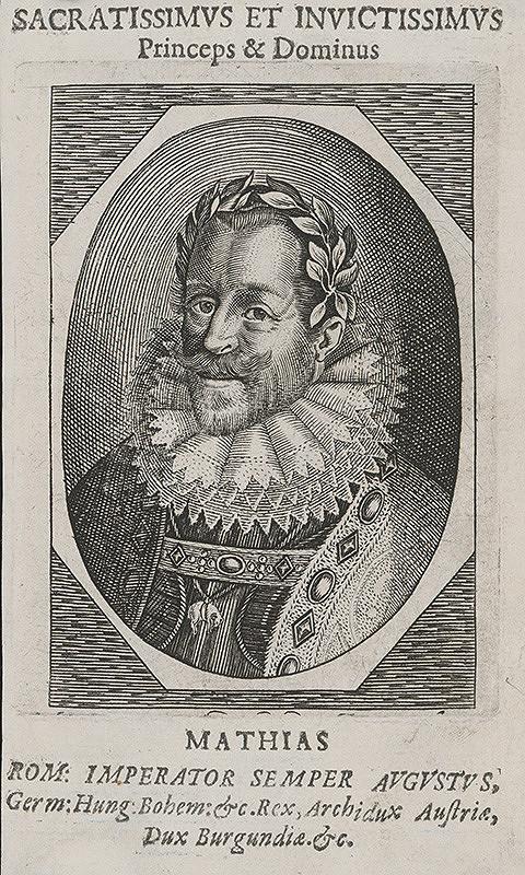Stredoeurópsky grafik zo 17. storočia - Portrét Mateja II.