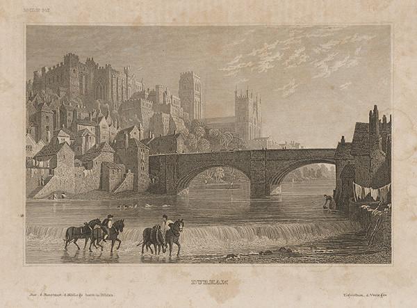Nemecký grafik z 19. storočia - Durham