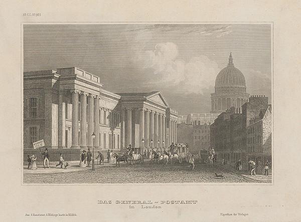 Stredoeurópsky grafik z 19. storočia – Generálny poštový úrad v Londýne