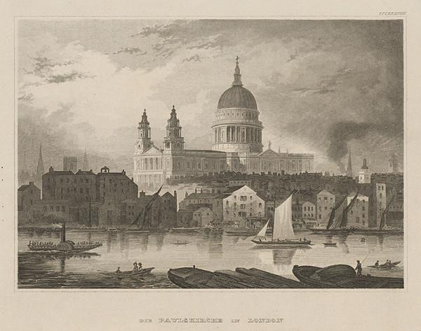 Stredoeurópsky grafik z 19. storočia – Kostol sv.Pavla v Londýne
