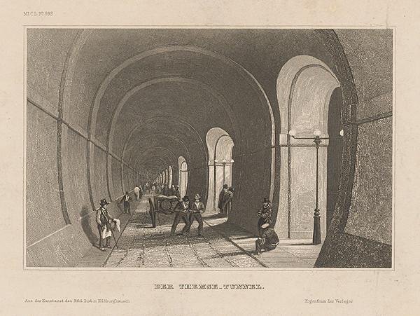 Stredoeurópsky grafik z 19. storočia - Tunel pod Temžou