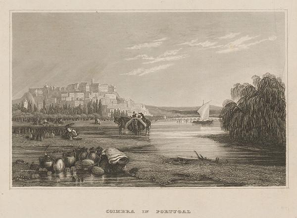 Nemecký grafik z 19. storočia - Coimbra v Portugalsku