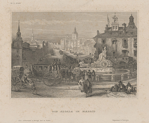 Nemecký grafik z 19. storočia - Alcala v Madride