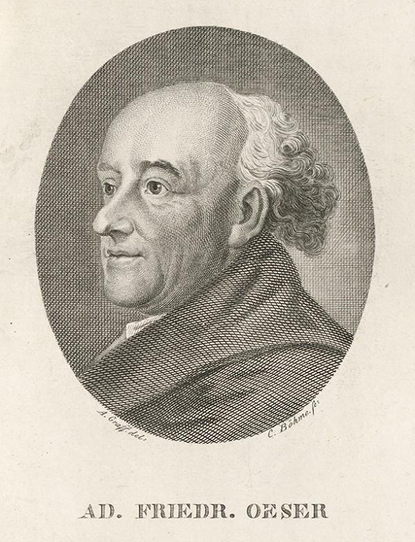 Carl Anton Graff, Johann Christian Böhme – Portrét Adama Friedricha Oesera