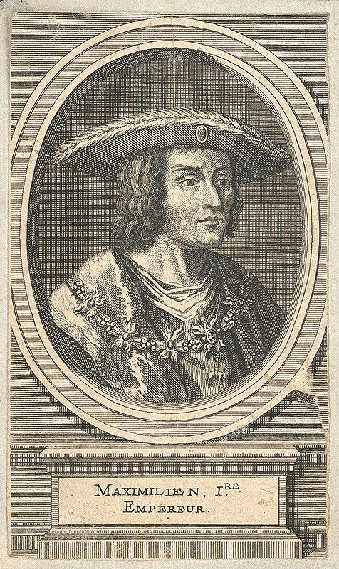 Nemecký grafik z prelomu 17. - 18. storočia – Portrét Maximiliána I.