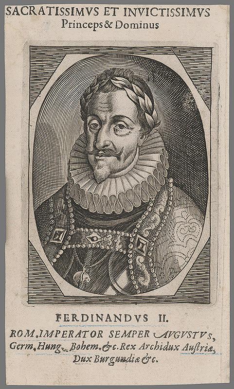 Stredoeurópsky grafik zo 17. storočia – Portrét Ferdinanda II.