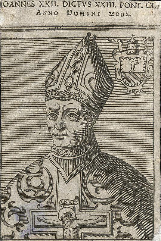 Nemecký grafik z prelomu 17. - 18. storočia – Portrét pápeža Jána XXII.