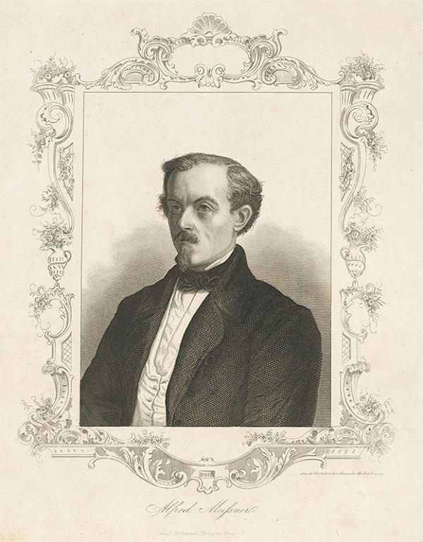 Nemecký grafik z 19. storočia - Portrét Alfréda Meissnera
