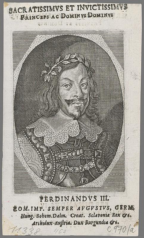Stredoeurópsky grafik z polovice 17. storočia – Portrét Ferdinanda III.