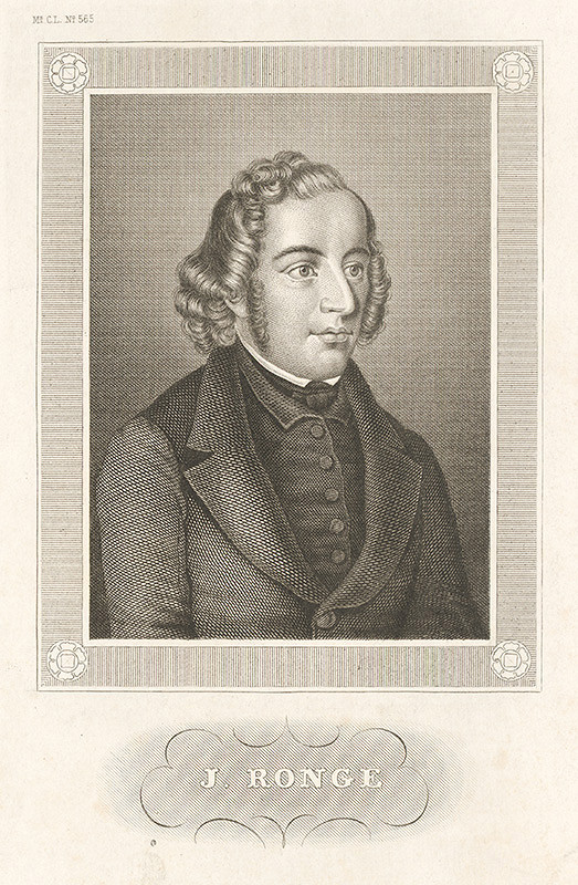 Nemecký grafik z 19. storočia – Portrét J.Rongeho
