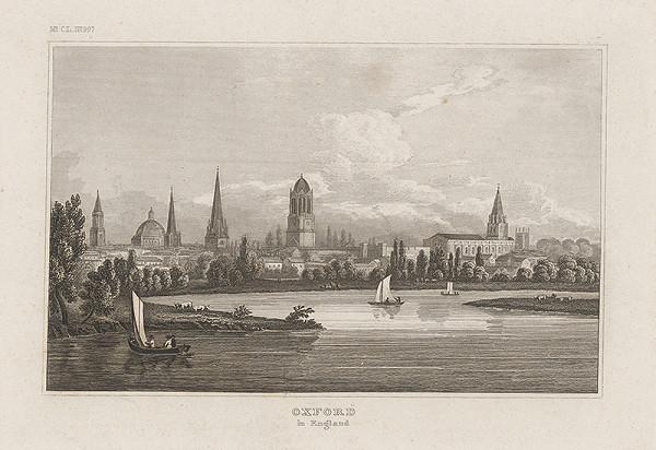 Stredoeurópsky grafik z 19. storočia - Pohľad na Oxford