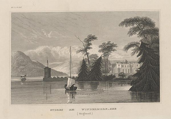 Stredoeurópsky grafik z 19. storočia – Stores am Windermere - see