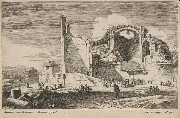 Herman van Swanevelt – Krajina s ruinou chrámu