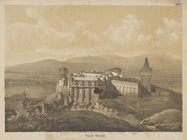 Stredoeurópsky grafik z 19. storočia - Hrad Vajda - Hunyad I.