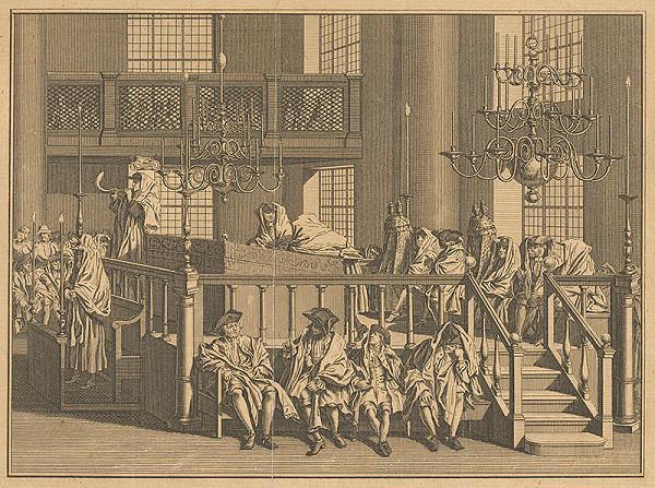 Bernard Picart –  Oslava Nového roku v Portugalskej synagóge v Amsterdame.