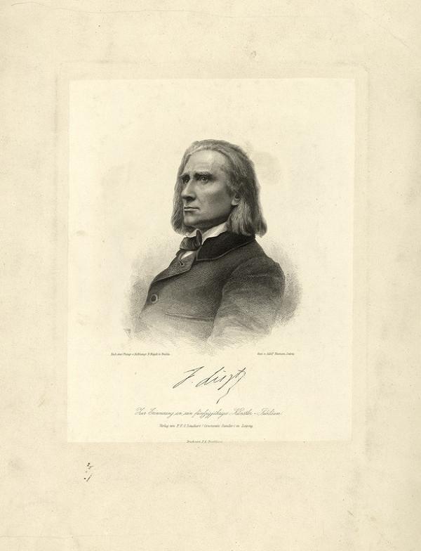 Adolf Neumann – Portrét Franza Liszta